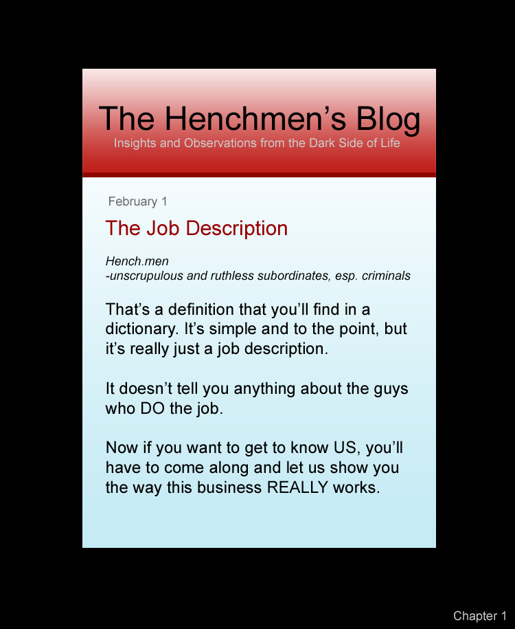 Henchmen for Hire – a webcomic by Jeff Langcaon