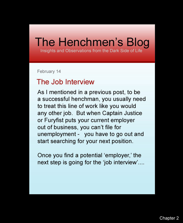 Update to the Henchmen's Blog